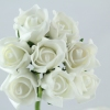 Rolled foam Roses available in many colours.