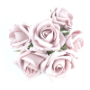 Vintage Pink Foam Rose Bunch