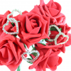 Our extra large Diamante heart pick featuring our Red Rose bunch (WFCF8)