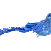 Blue Ornate Bird Clip