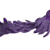 Purple Ornate Bird with Plumage