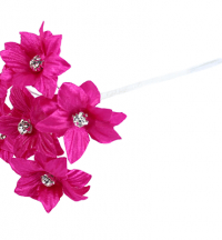 Satin Flowers with Diamante Middle - Artificial Flowers | Weddings & Flowercraft