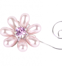 Pearl Diamanté Flower with Swirl | Weddings & Flowercraft