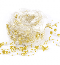 5ft Unstructured Gold Pearl Garland