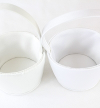 11cm Satin Flower-Girl Baskets x12