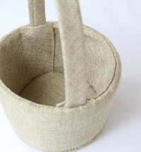 11cm Hessian Flower-Girl Baskets x12