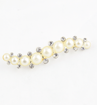 Diamanté & Pearl Caterpillar Brooch sold as singles