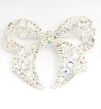 75mm wide bling brooch fashion/party item Silver
