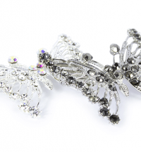 Diamanté Butterfly Brooch -­ Jewellery | Clear