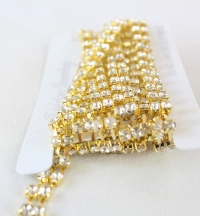 2 Yards, Single line B quality rhinestone chain x6