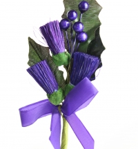 Purple thistle stems for Card Craft or Christmas Decorations.