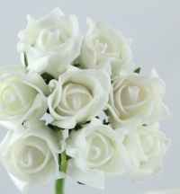 Artificial Flowers.  Small rolled foam Rose 3cms sold as bunches of eight