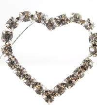 5 boxes of 6 large diamante heart pick stems.