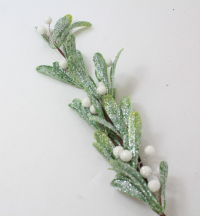 "16"" Glistening Mistletoe Spray x24"