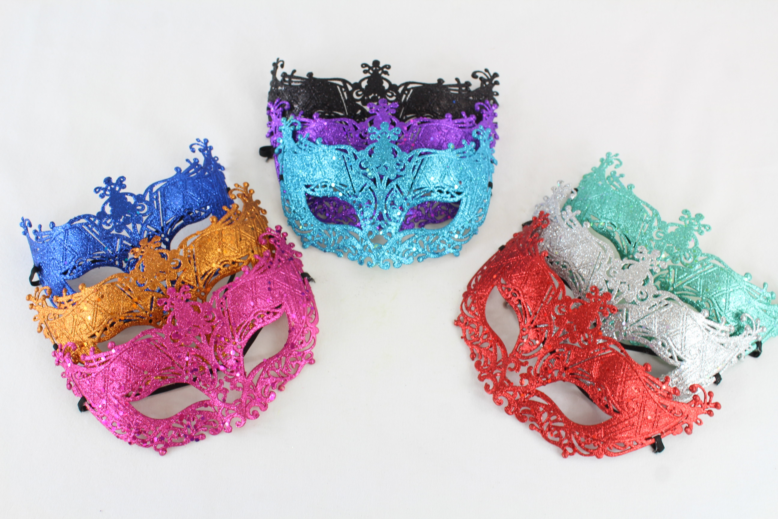 Masquerade ball masks.