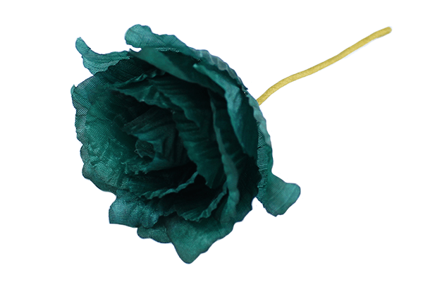 Teal Polyester Corsage Rose