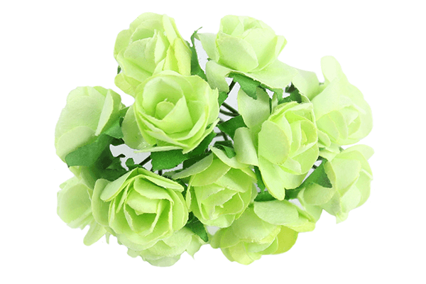 Lime Paper Tea Rose Bunch