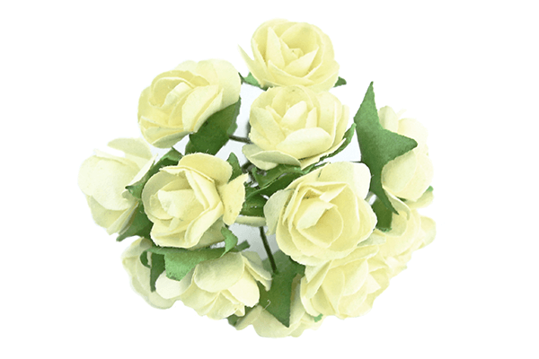 Yellow Paper Tea Rose Bunch