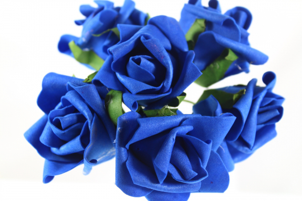 Our Royal Blue version of the medium sized rose bud bunches