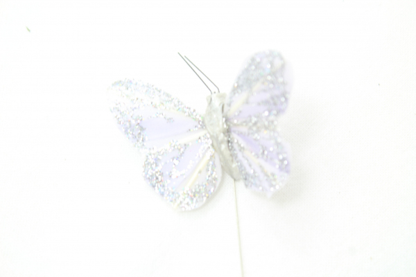 Lavender Colour Glittered Butterfly.