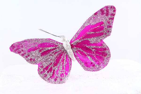 Our 11cm wide Butterfly best described as wine coloured.