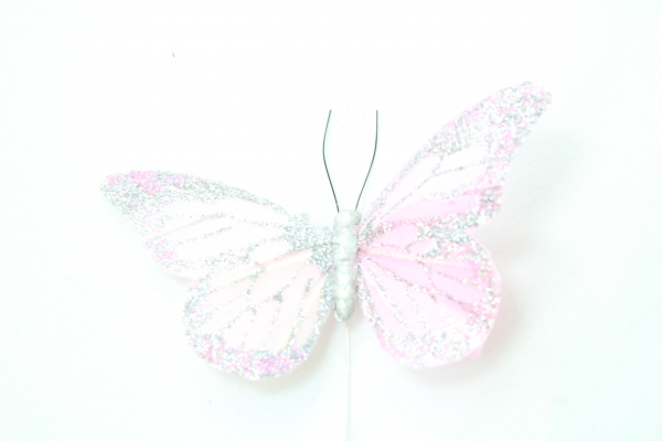 Large Glitter Butterfly. Pink.