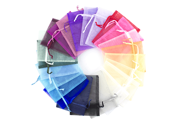 Medium Organza Bag Colours
