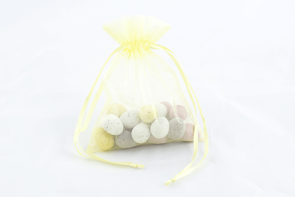 Medium Lemon Organza Bag