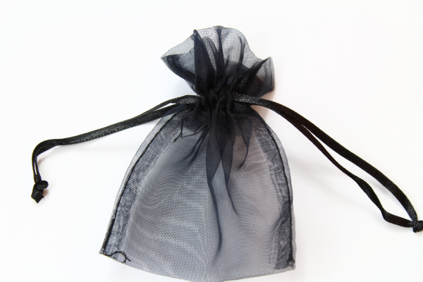Black themed wedding Organza bags - our smallest bag shown.