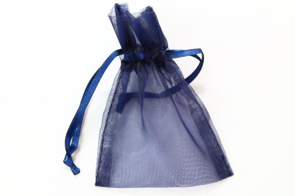 Navy Blue Organza bag from WFC with next day UK mainland delivery.