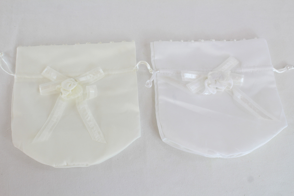 Satin Rhinestone Pearl Trim And Ribbons Dorothy Bag Dolly Bag x 12