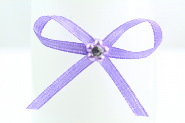 Well crafted lilac ribbon bow