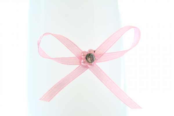 Beautiful fairy pink diamonte craft bow