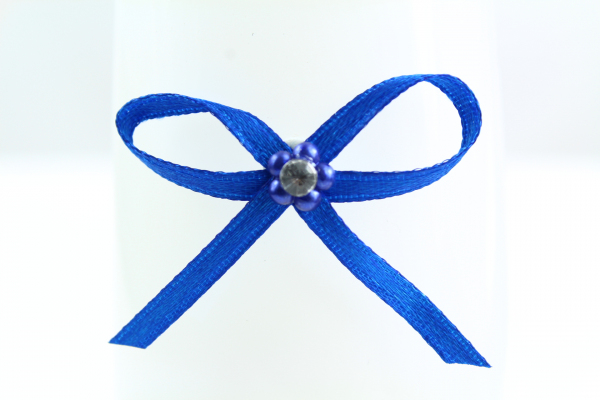 Royal blue decorative craft bow