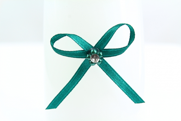 Stunning teal craft bow with adhesive pad