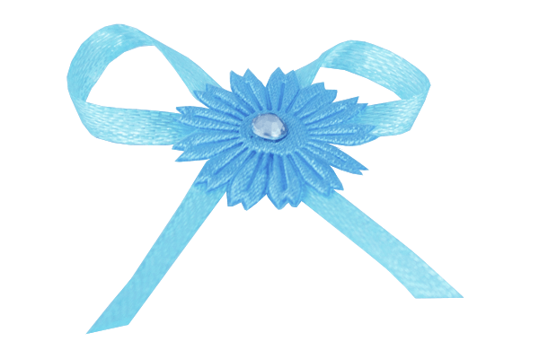 Turquoise Adhesive Daisy Bow