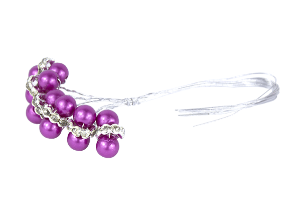 Cerise faberge pearl beads