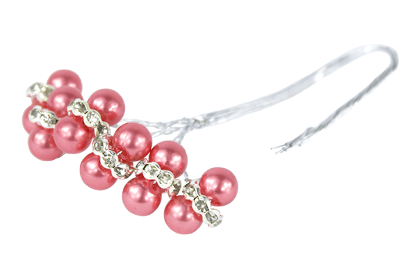 Coral faberge pearl beads