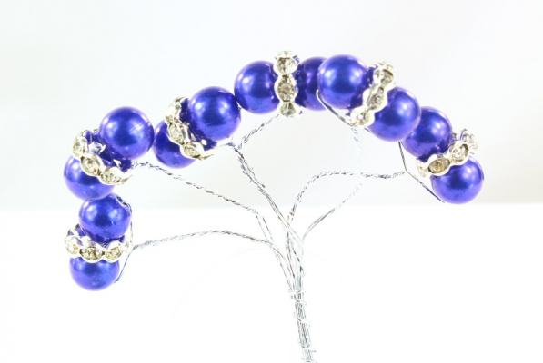 Our Royal Blue pick stem with pearl beads and faberge finish