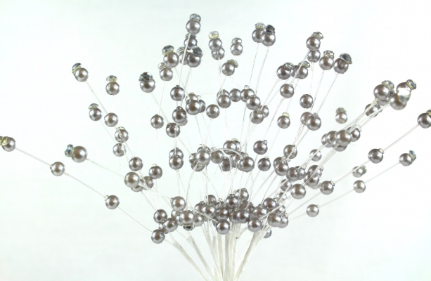 Our stunning silver decorative pick stem