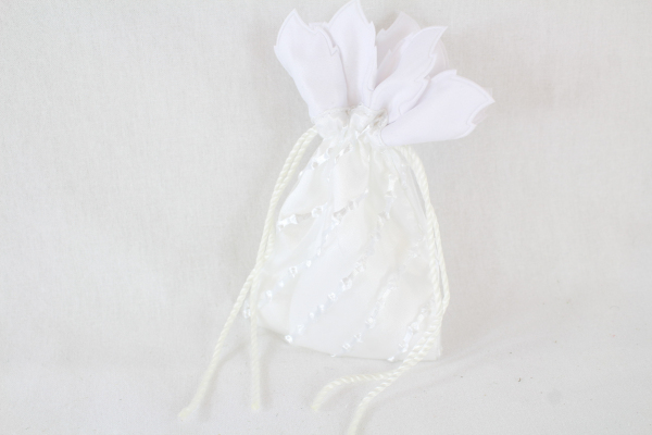 Satin Pouch With Frill Dolly Bag