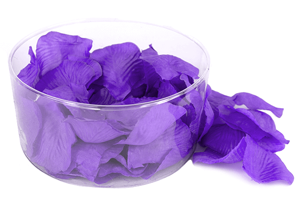 175x Purple Satin Petals