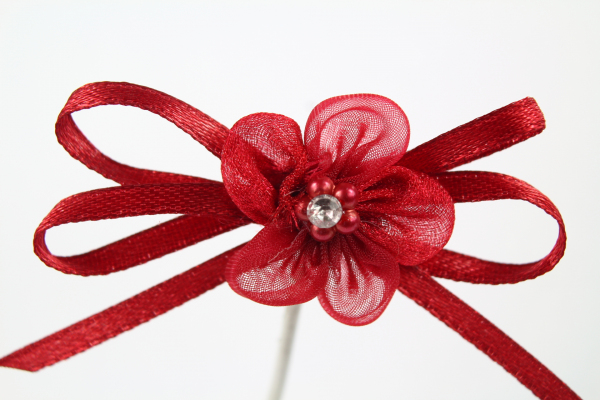 Our bold Burgandy flower bow for crafting and decoration