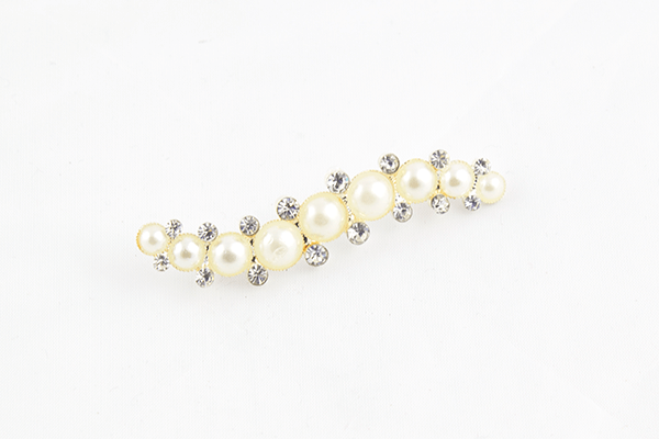 Diamanté & Pearl Caterpillar Brooch