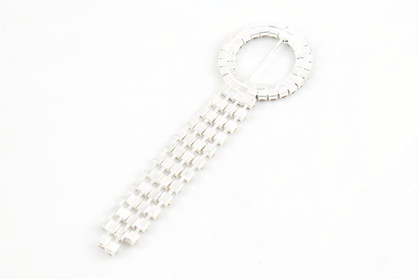 Diamanté Meteor Buckle Back Sash Slider