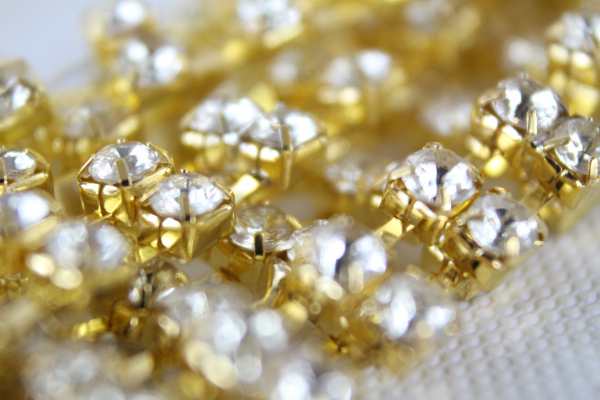 2 yard double rhinestone chain