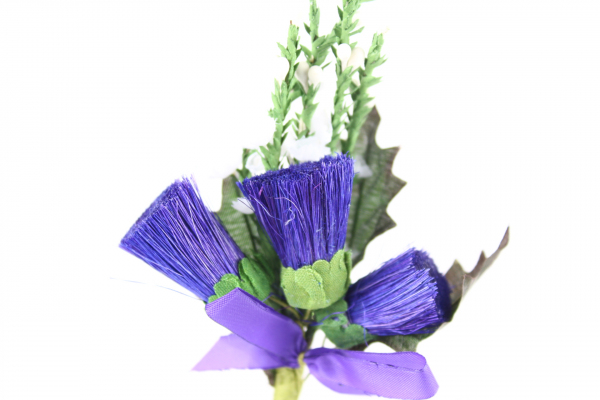 Our superb image of our thistle head stems with heather perfect for decorative use