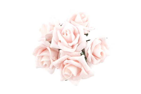 Baby Pink Foam Rose Bunch