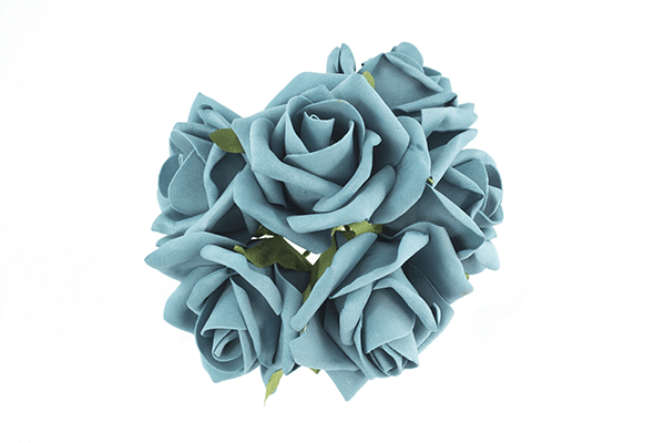 Teal Foam Rose Bunch